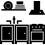 refrigerateur micro onde evier 1